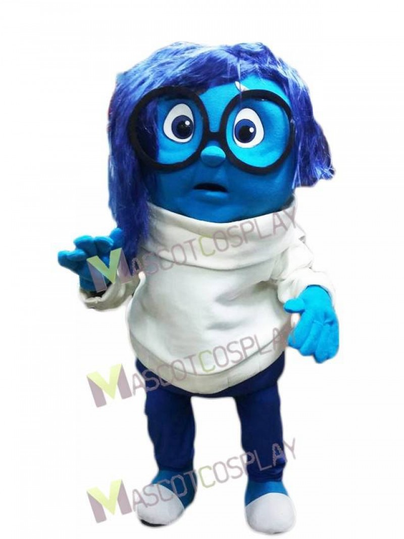 Sad from Inside Out Mascot Costume
