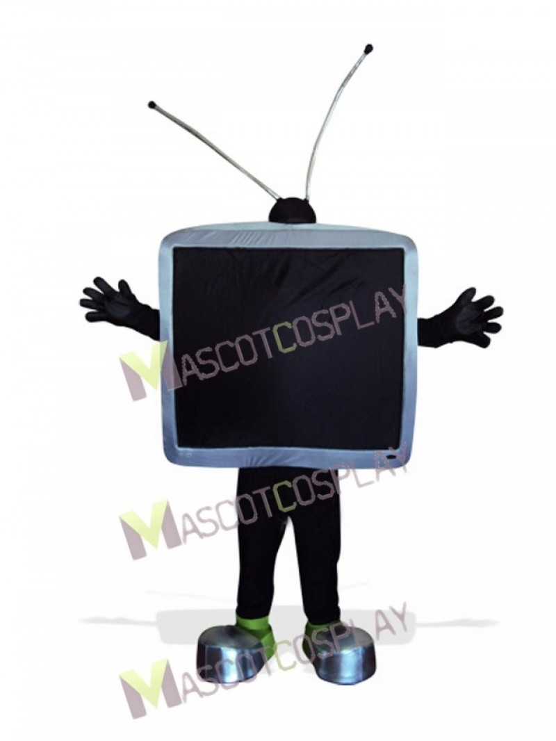 Black TV Telvision for Adult Mascot Costume