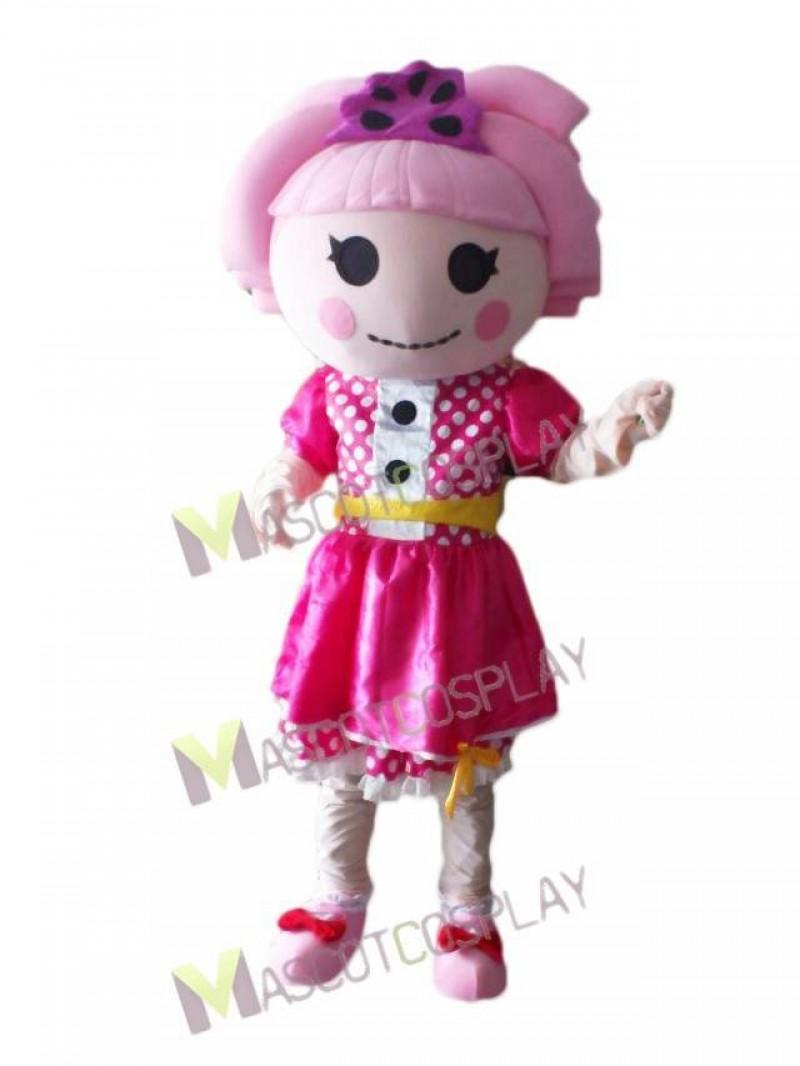 Lalaloopsy Pink Doll Jewel Sparkles Mascot Costume