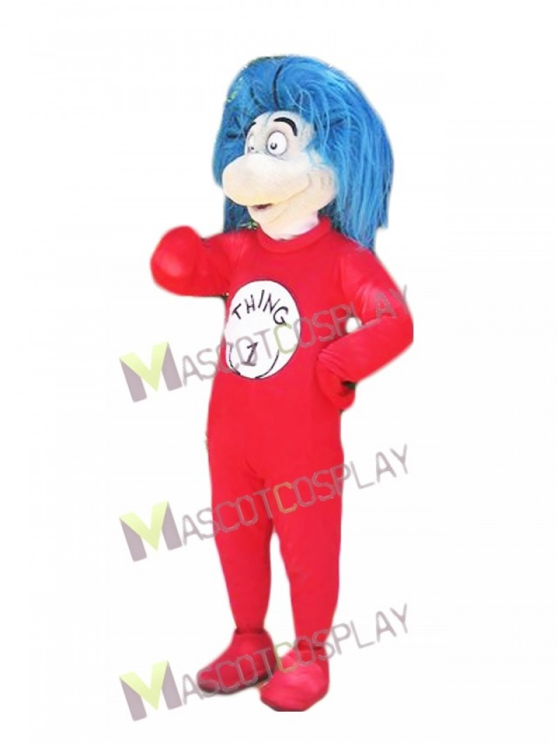 Thing 1 Thing One Mascot Costumes from The Cat in the Hat book