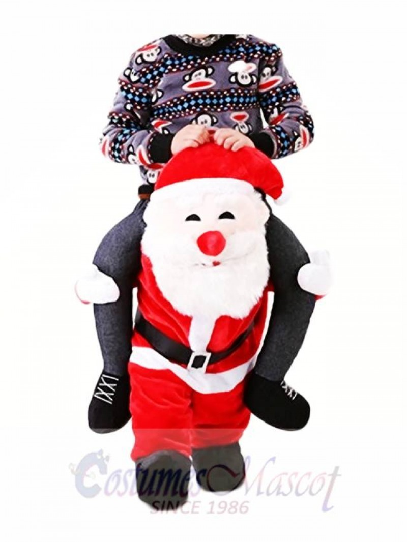 Carry Me Santa Claus Ride Mascot Costume Christmas Fancy Dress