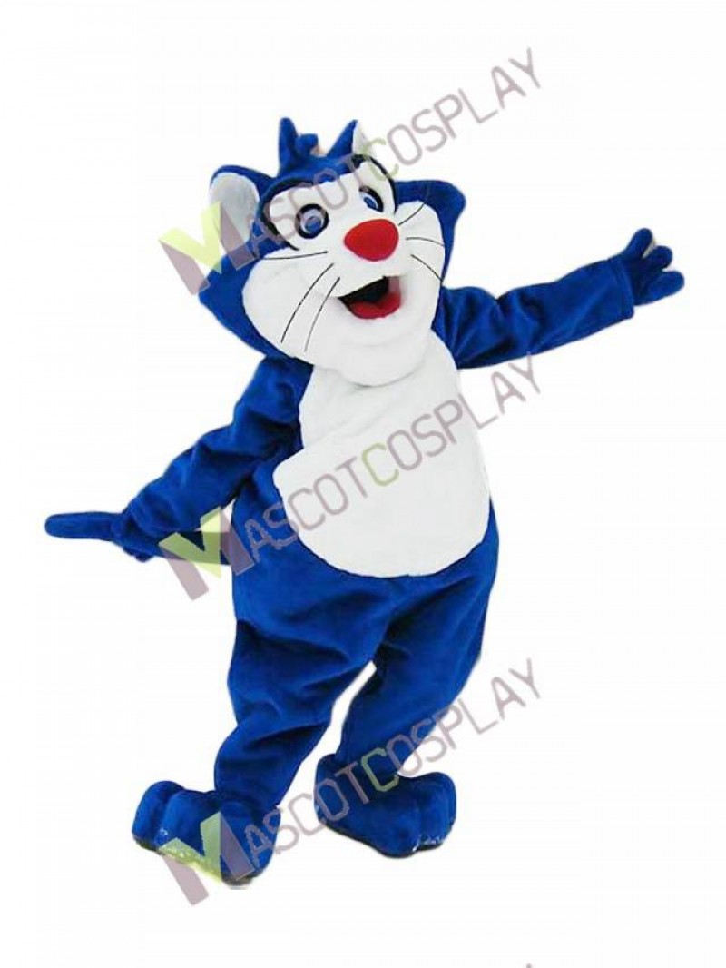 Custom Color Blue Fat Cat Mascot Costume