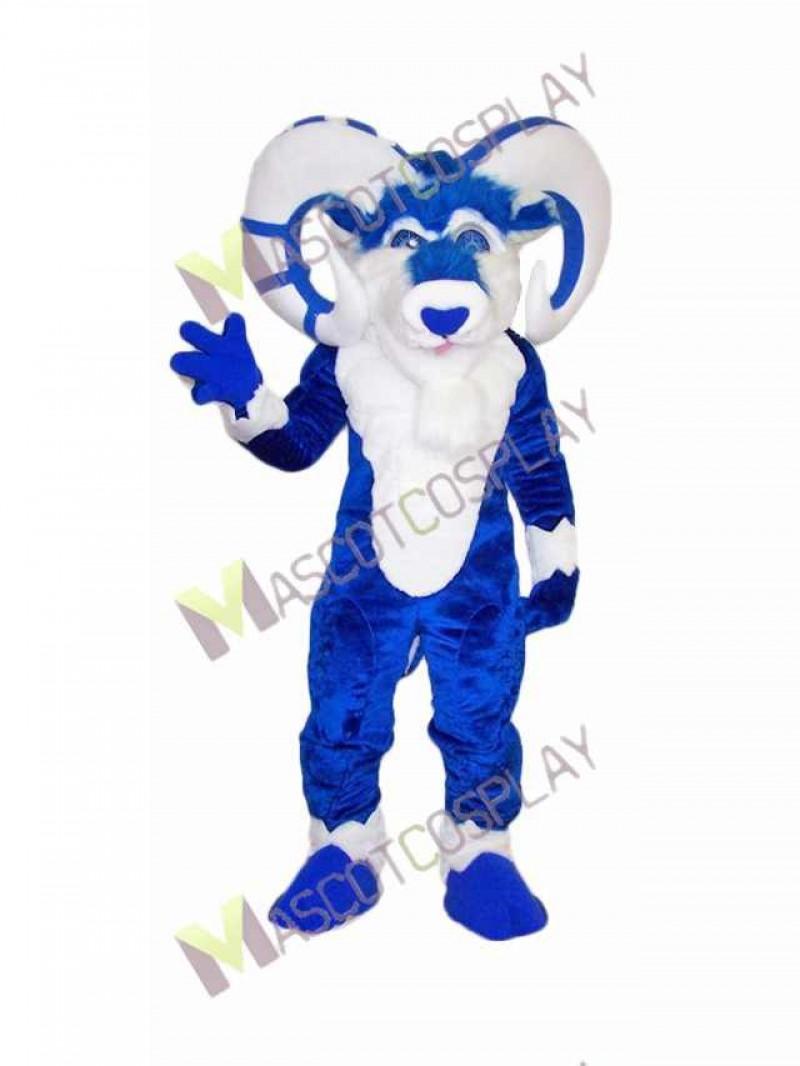 High Quality Adult Custom Color Blue Ram Mascot Costume