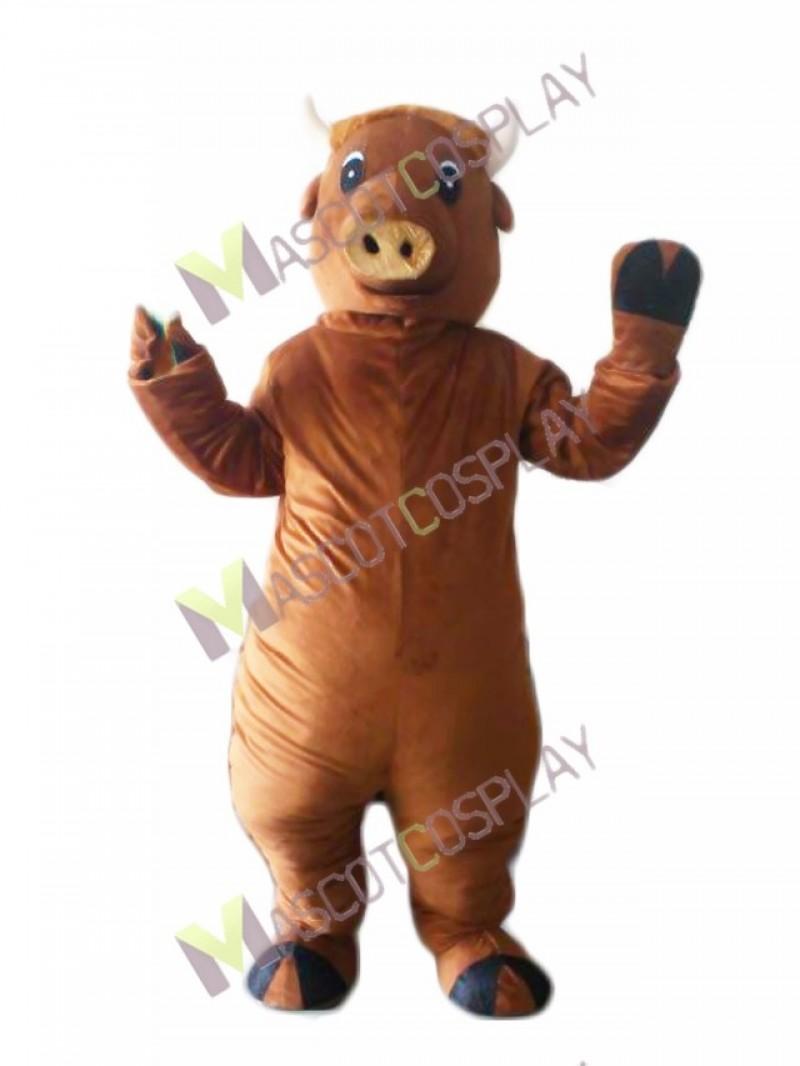 Realistic Kubanochoerus Buffalo Mascot Costume
