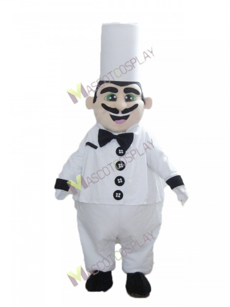 High Quality Adult Restaurant Promotion Italian Chef Cook Mascot Costume with Black Bow