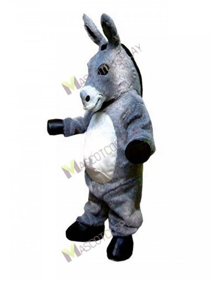 High Quality Adult Gray Donkey Hospice Mascot Costume