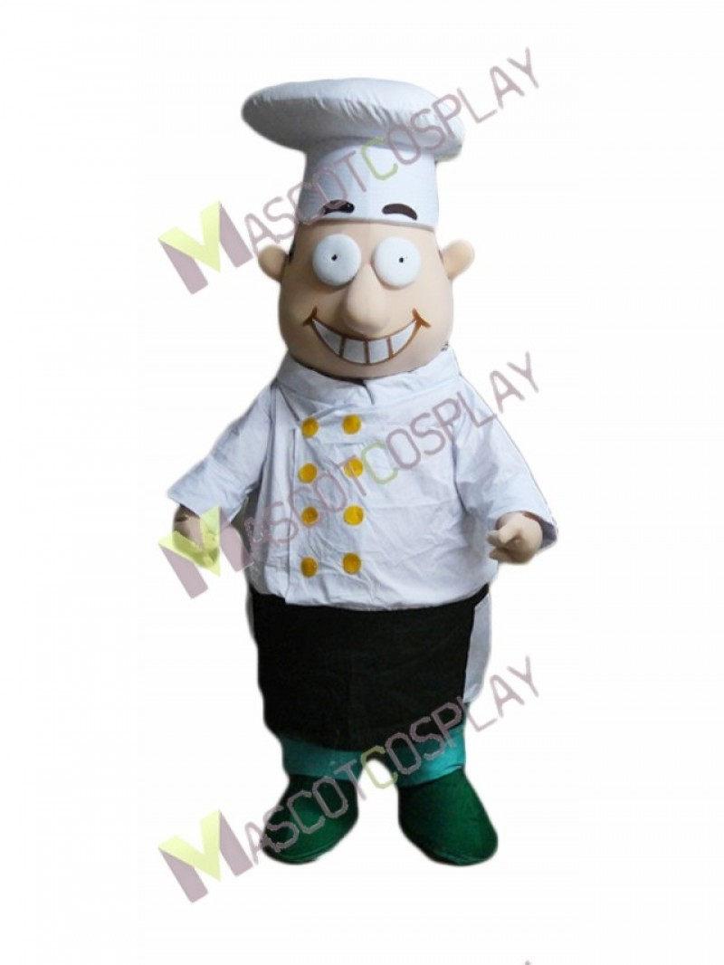 High Quality Adult Fat Chef Mascot Costume with Big Eyes