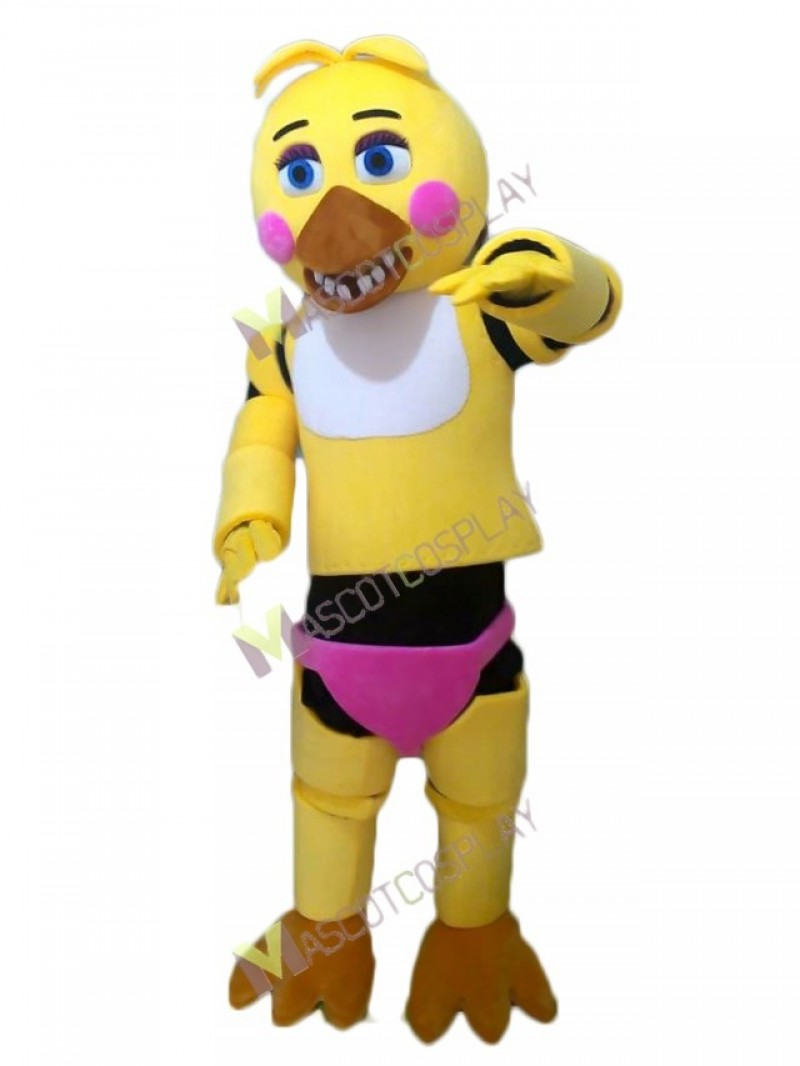High Quality Adult FNAF Five Nights At Freddy's Toy Chica Mascot Costume