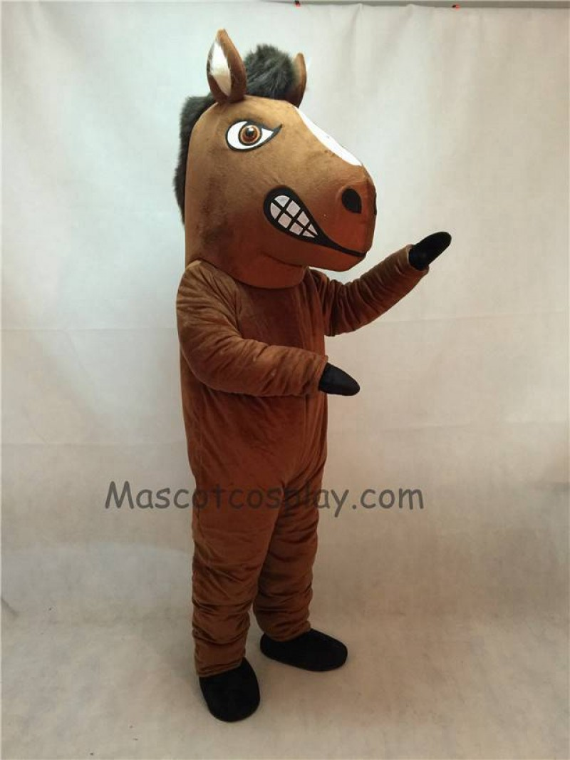 Fierce New Mustang Horse Mascot Costume