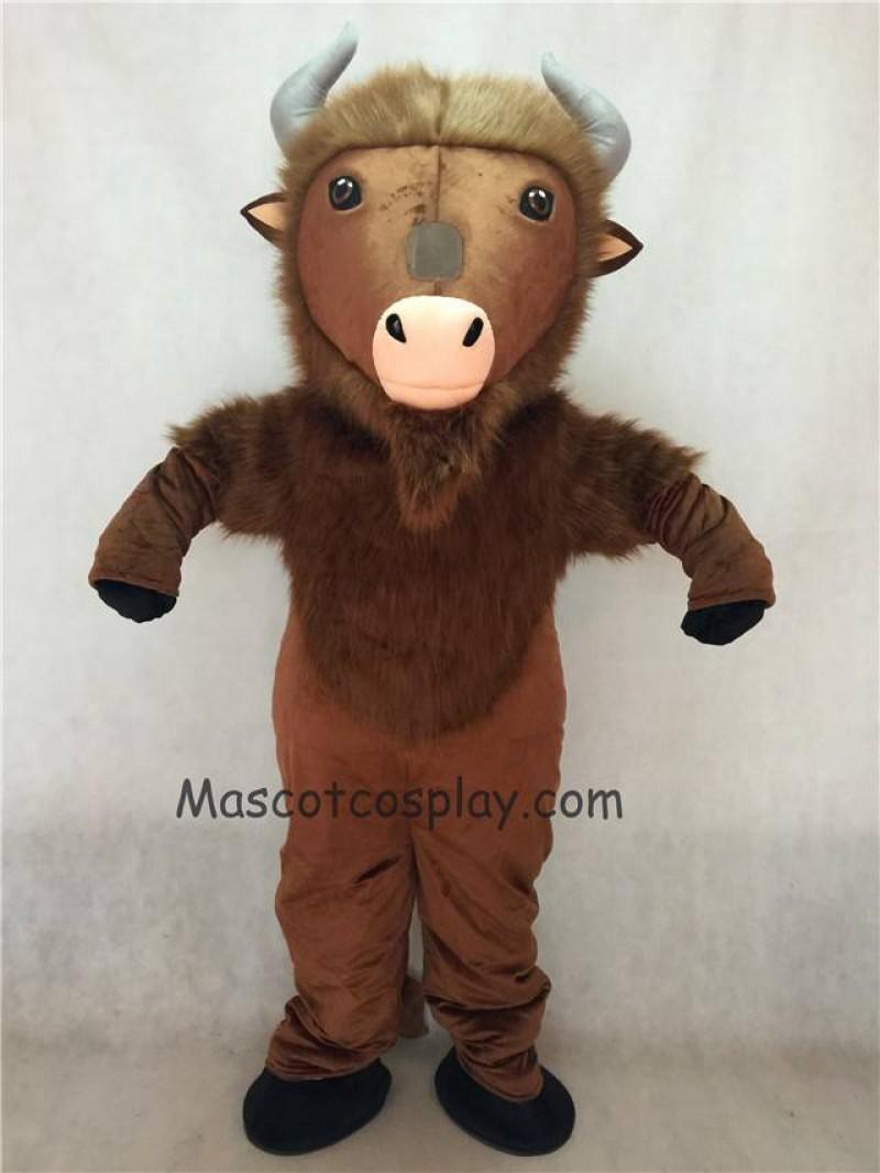 Hot Sale Adorable Realistic New Brown Buffalo Mascot Costume
