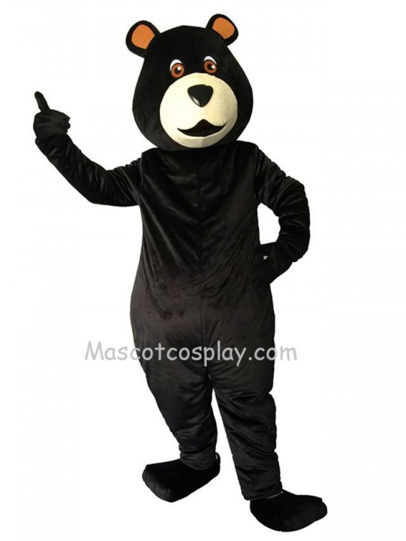 New Black Bear Big Belly Mascot Costume