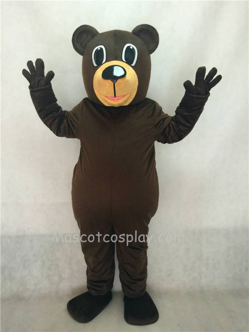 Hot Sale Adorable Realistic New Popular Professional Dark Brown Chocolate Buford Bear Mascot Costume