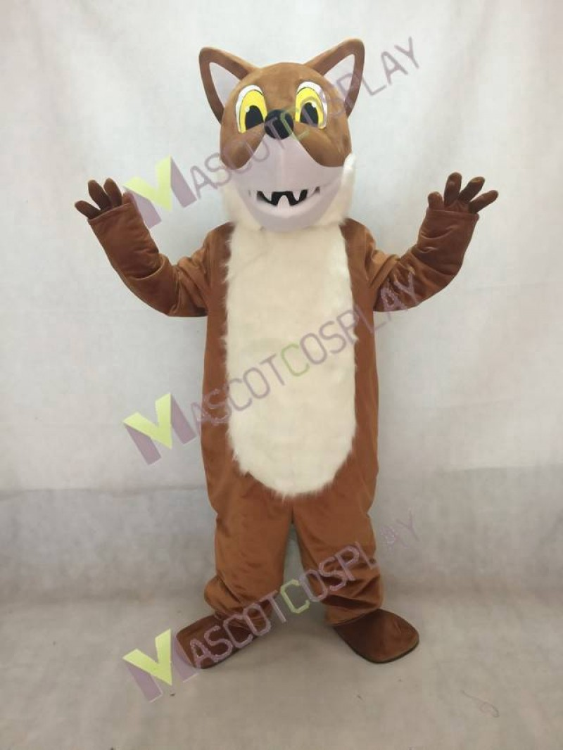 Brown Fox Mascot Costume