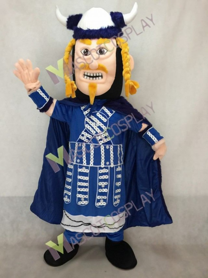 New Royal Blue Loki Viking Mascot Costume
