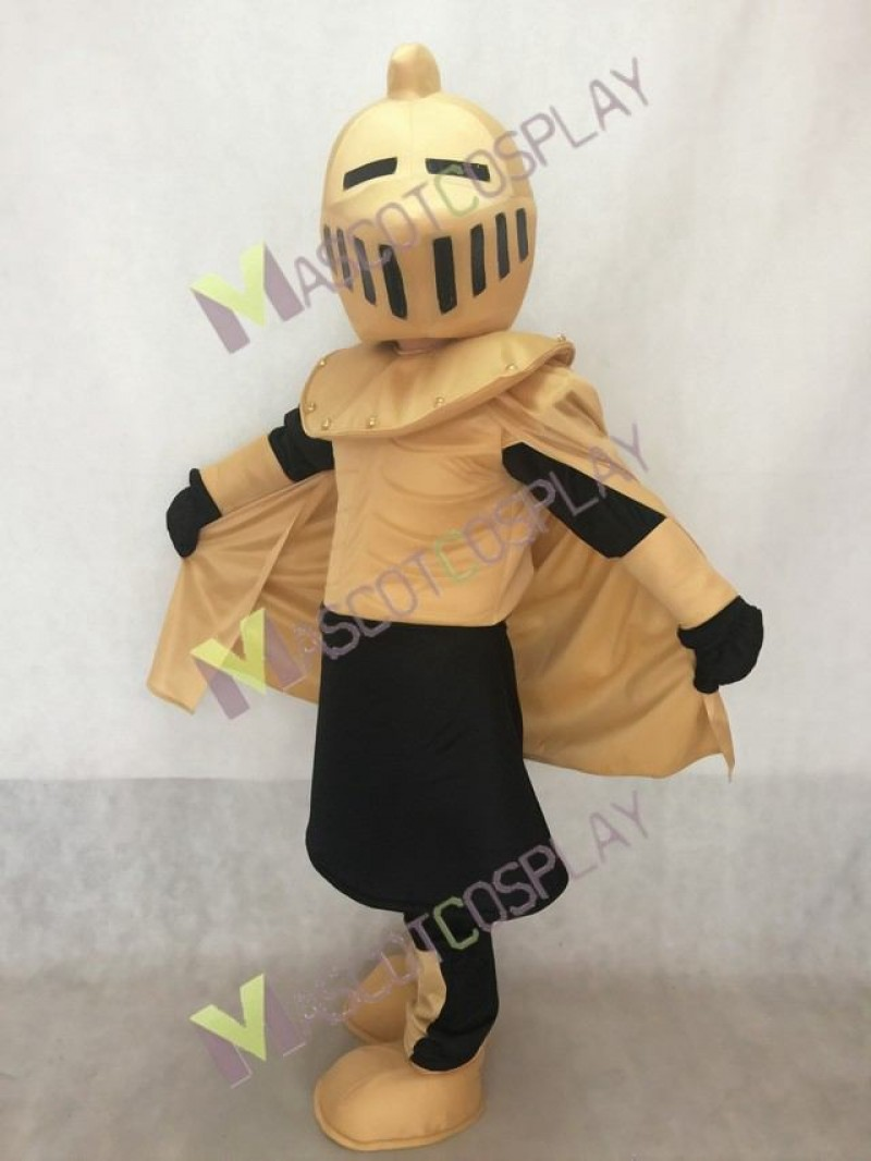 Tan and White Knight Mascot Costume