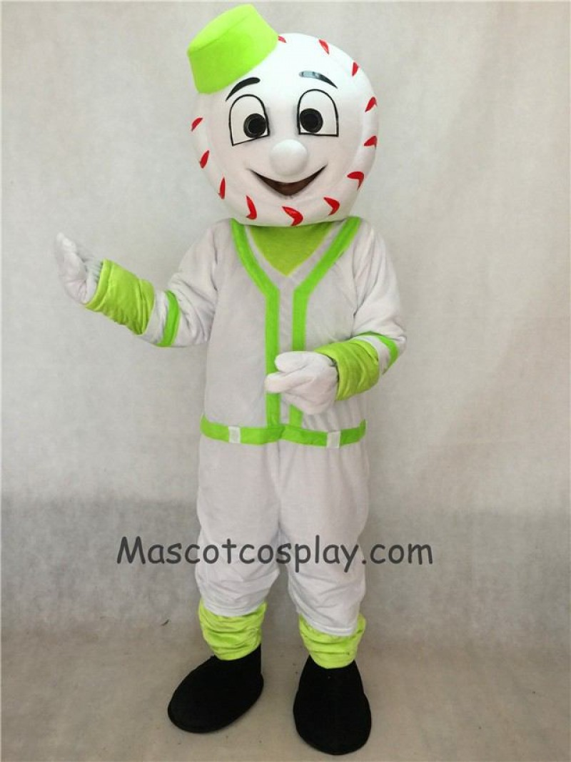 Green Baseball Man Mr. Met Mets Mascot Adult Costume