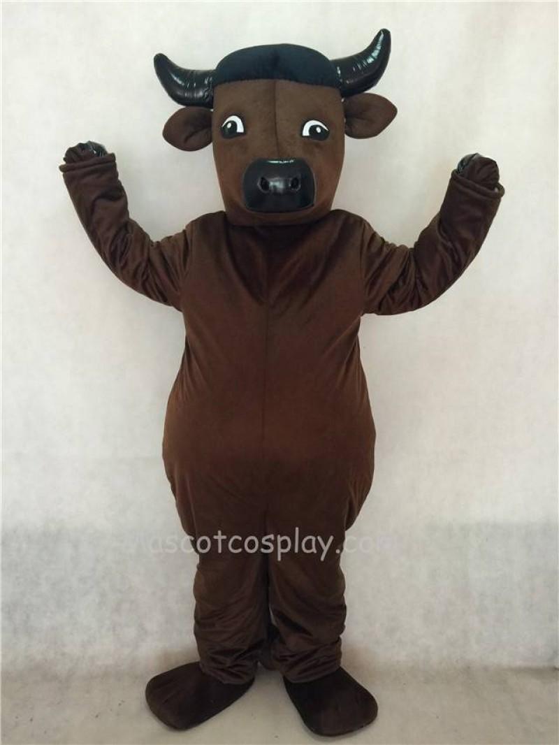 Hot Sale Adorable Realistic New Popular Professional Dark Brown Bull Mascot Costume