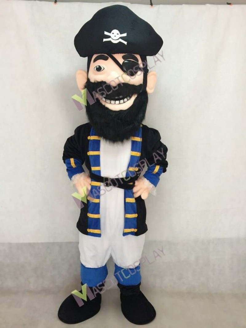 Custom Color Redbeard Pirate Royal Blue Mascot Costume