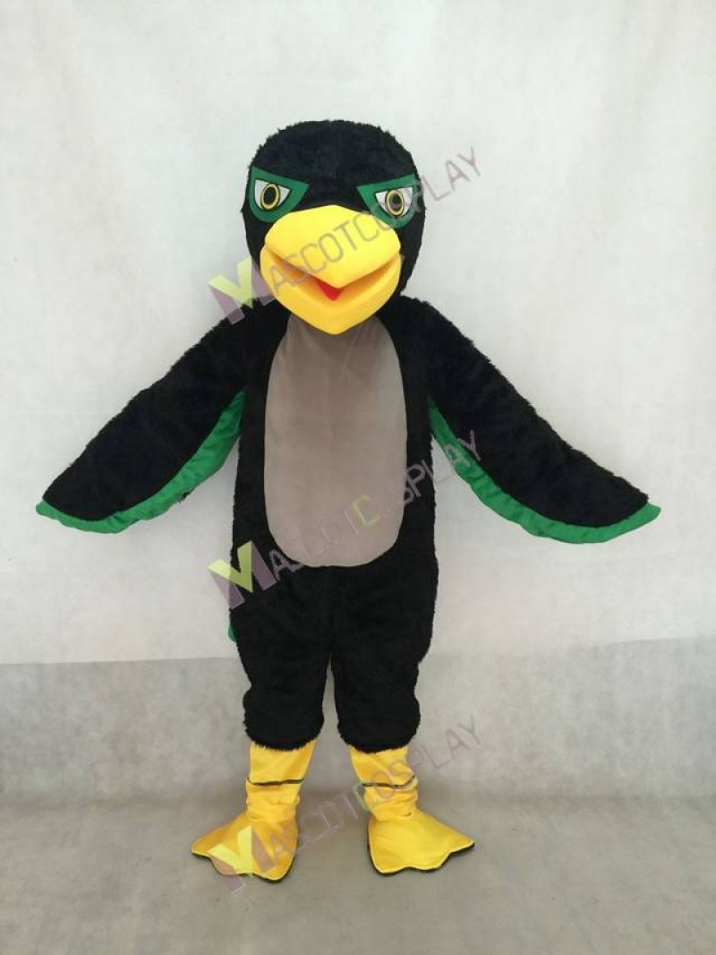 Adult Green and Black Hawk / Falcon Mascot Costume