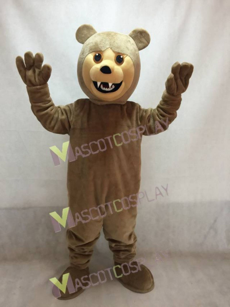 New Brown Grizzly Bear Mascot Costume