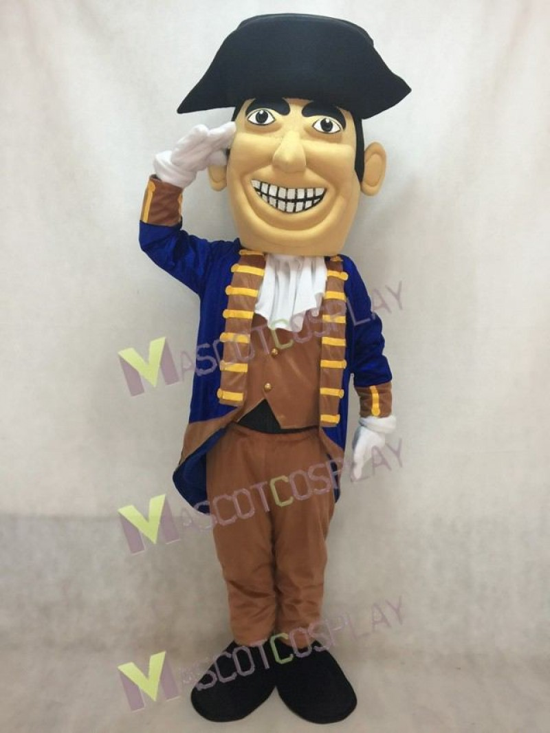 New Colonial with Hat Mascot Costume