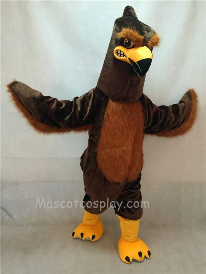 High Quality Brown Majestic Hawk Mascot Costume