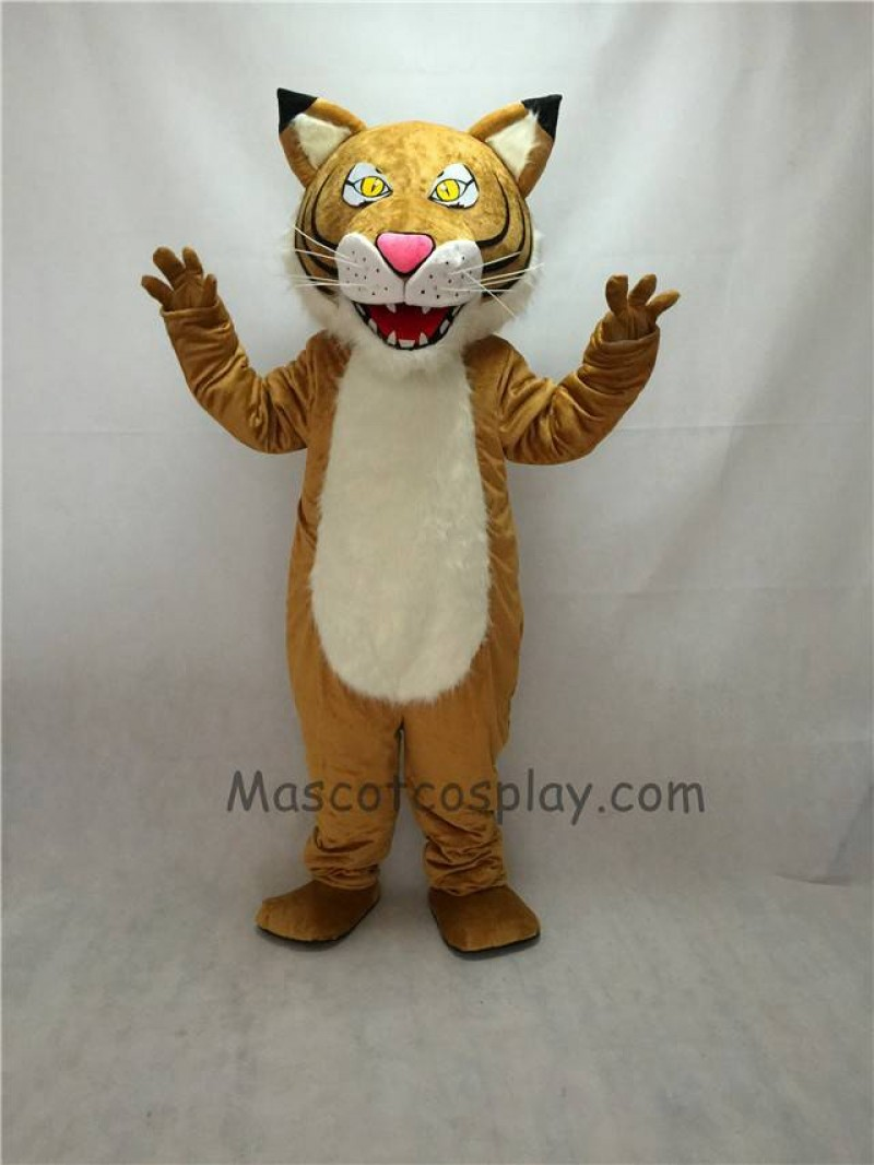 New Fierce Yellow Eyes Wildcat Mascot Costume