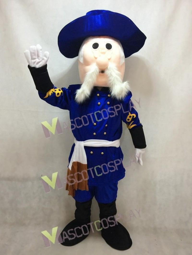 Rebel in Royal Blue Hat Mascot Costume