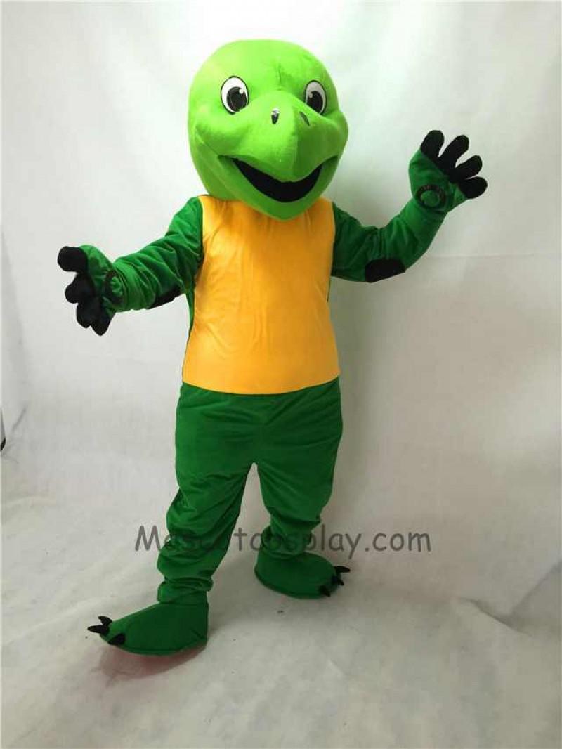 Cute Green Tortoise Plush Adult Mascot Costume