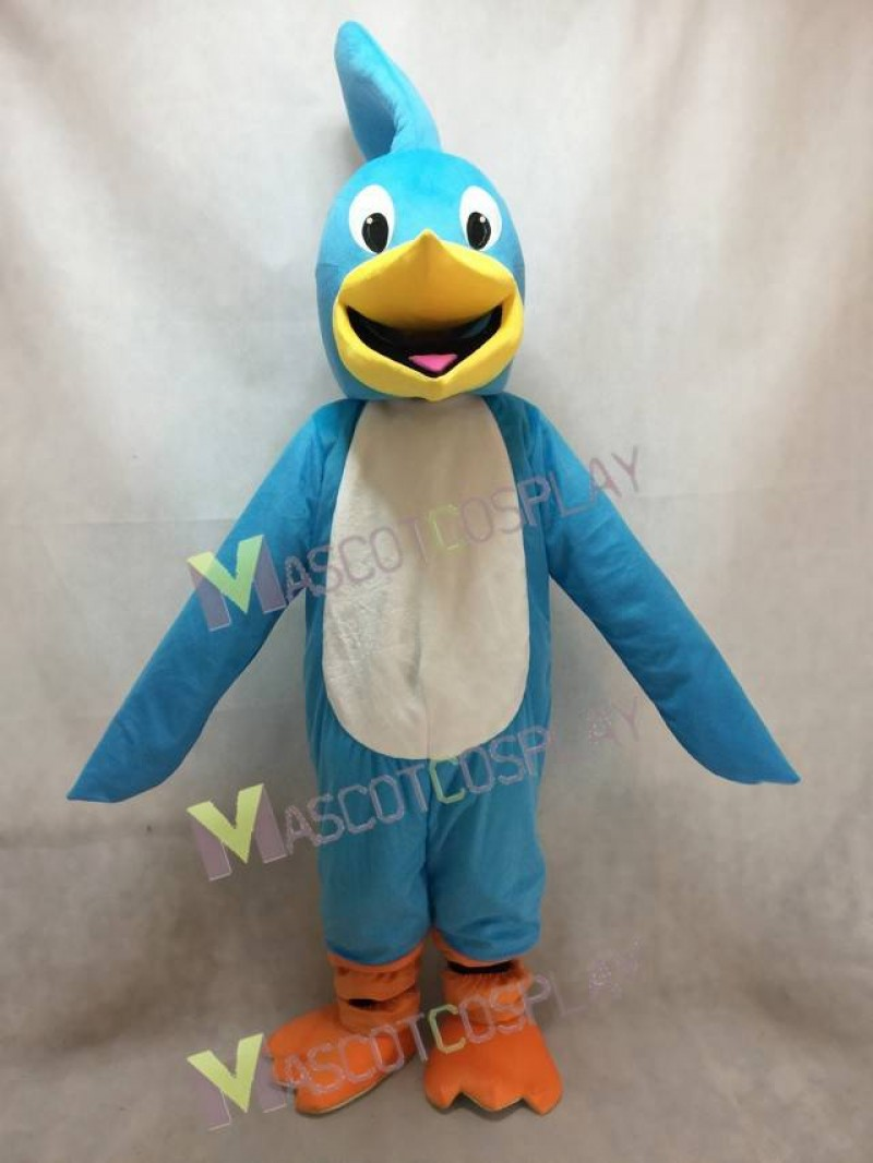 High Quality Realistic New Light Blue Roadrunner Mascot Costume