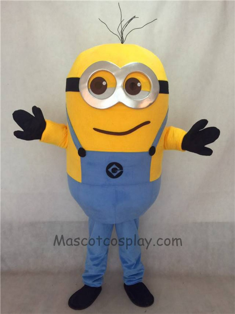 High Quality Cute Despicable Me Chuckling Grinning Minions Mascot Costume Custom Cosplay