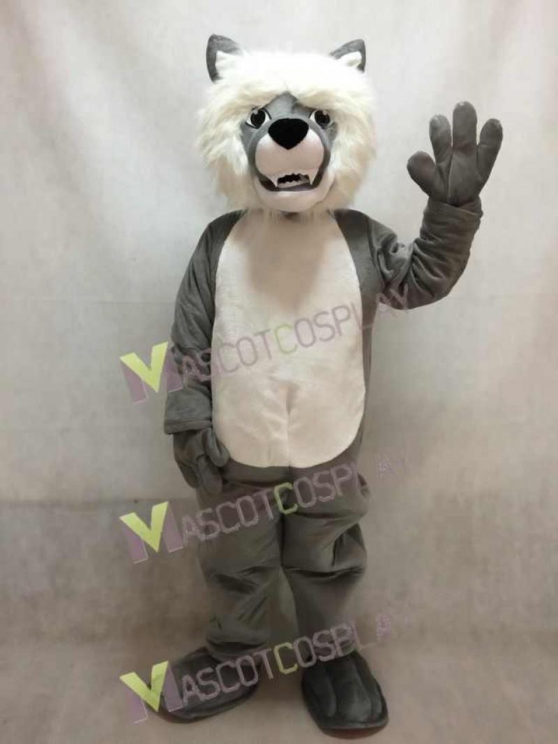 Smiling Wolf Mascot Costume