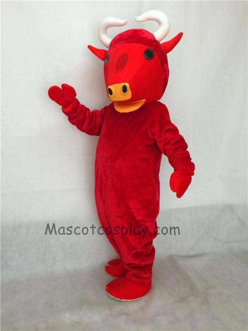 Fierce New Red Buffalo Mascot Costume