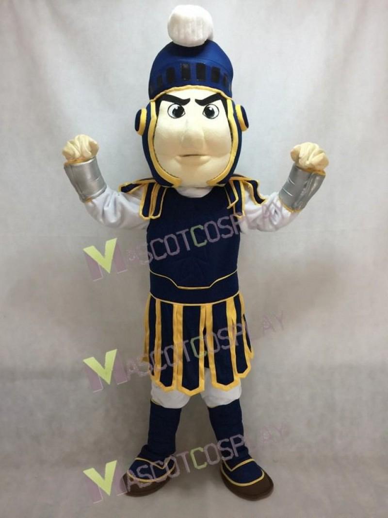 Custom Color Dark Blue with Yellow Edge Spartan Trojan Knight Sparty Mascot Costume