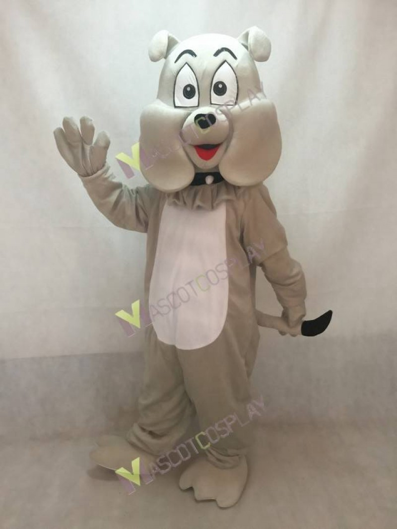 High Quality Adult Gray Cartoon Bulldog Mascot Costume