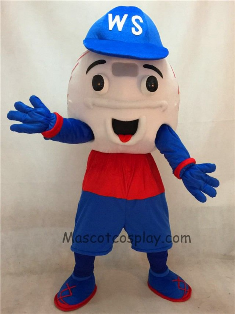High Quality Adult Nashua Baseball Mascot Costumes with Red and Blue Shorts