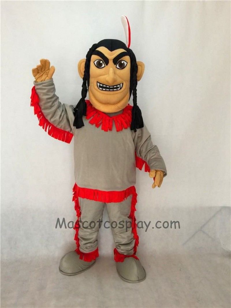 Cute Native American Indian Mascot Costume in Red Bottom