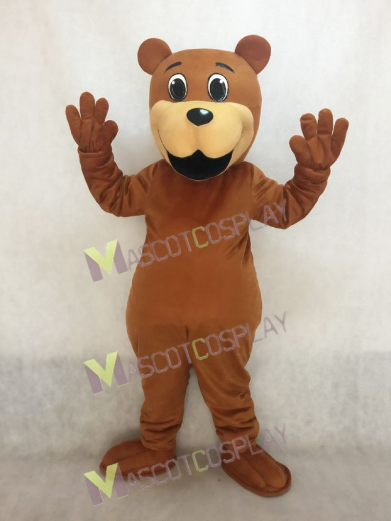High Quality Realistic New Brown Benny Bear Mascot Costume