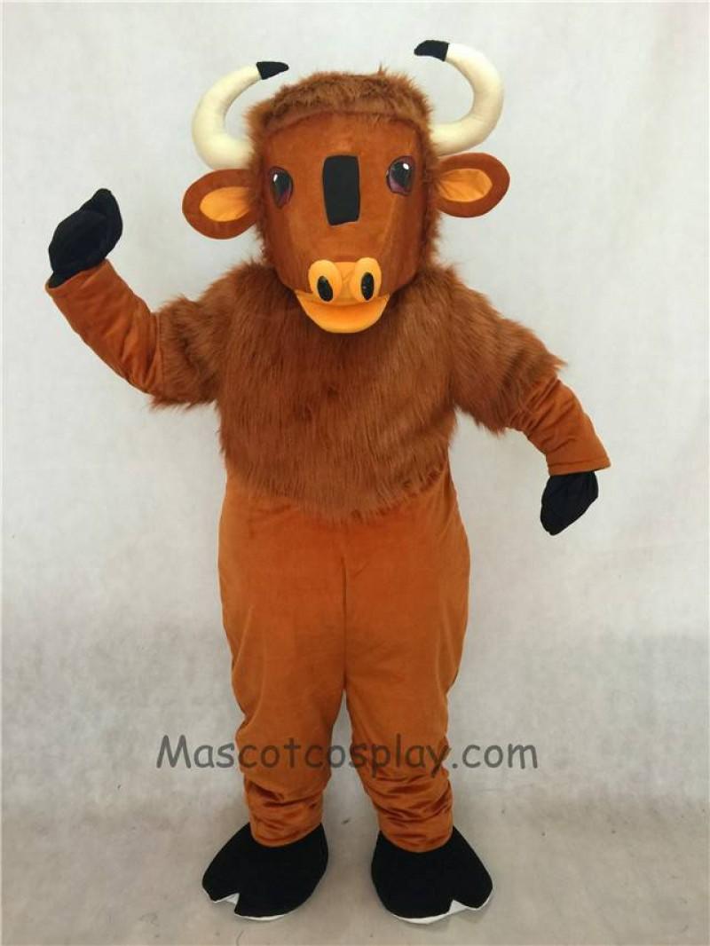 High Quality Adult Friendly Brown Buffalo Mascot Costume