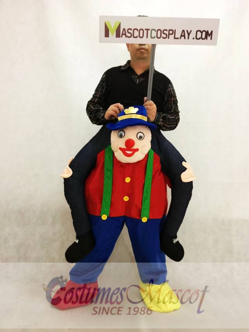Carry Me Illusion Costume Piggy Back Circus Clown Mascot Costume Ride On Funny Fancy Dress