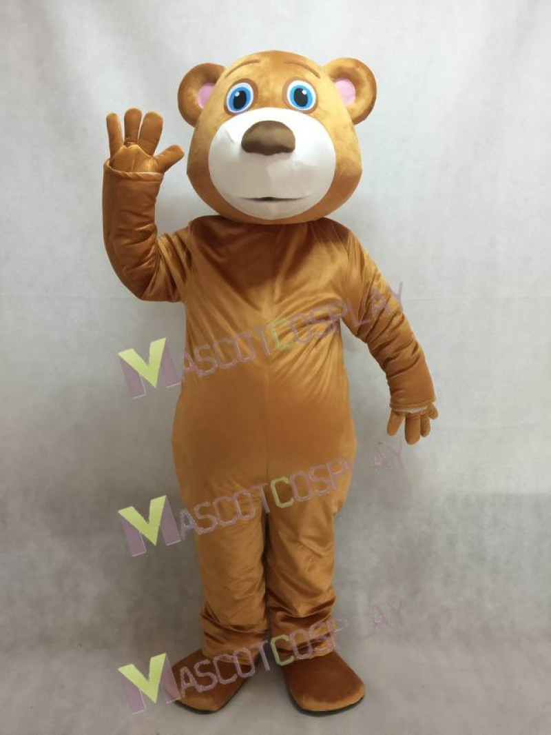 Cute Blue Eyed Bear Mascot Costume