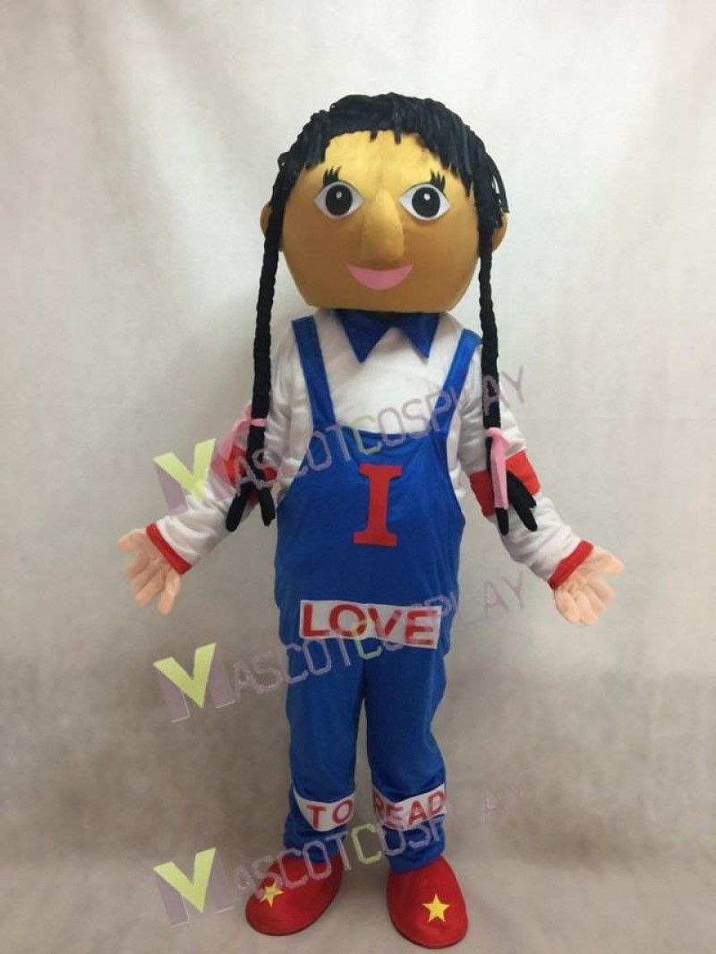 Cow Girl Love to Read Mascot Costume