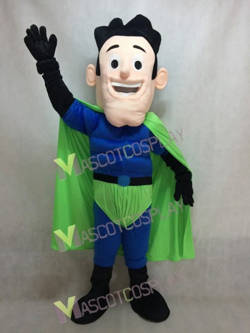 New Super Hero Mascot Costume with Green Cloak