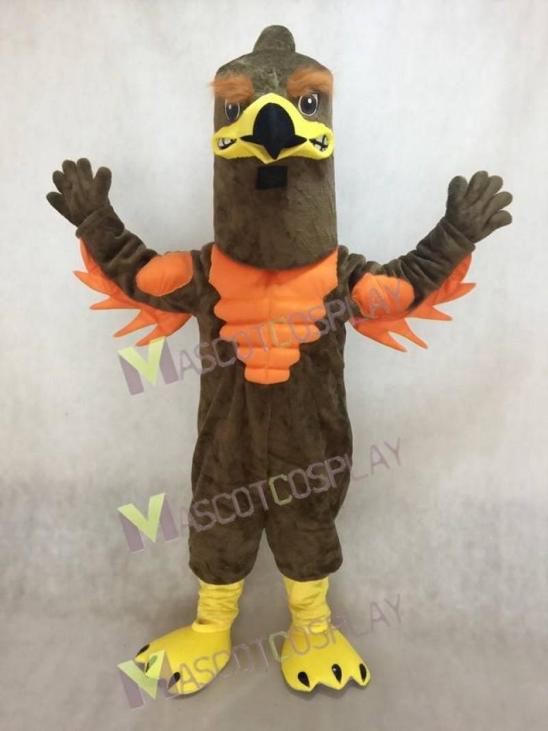 Cute Power Muscle Majestic Hawk/Falcon Mascot Costume