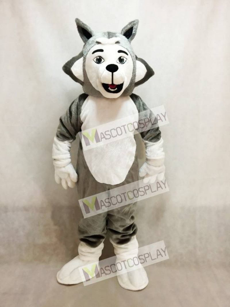 Grey Herman Husky Dog Mascot Costume