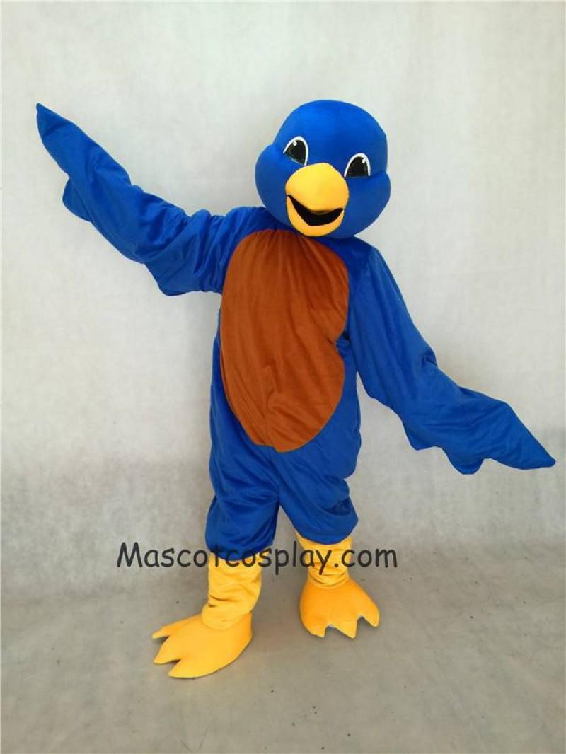 Hot Sale Adorable Realistic New Blue Bird Mascot Costume with Yellow Beak