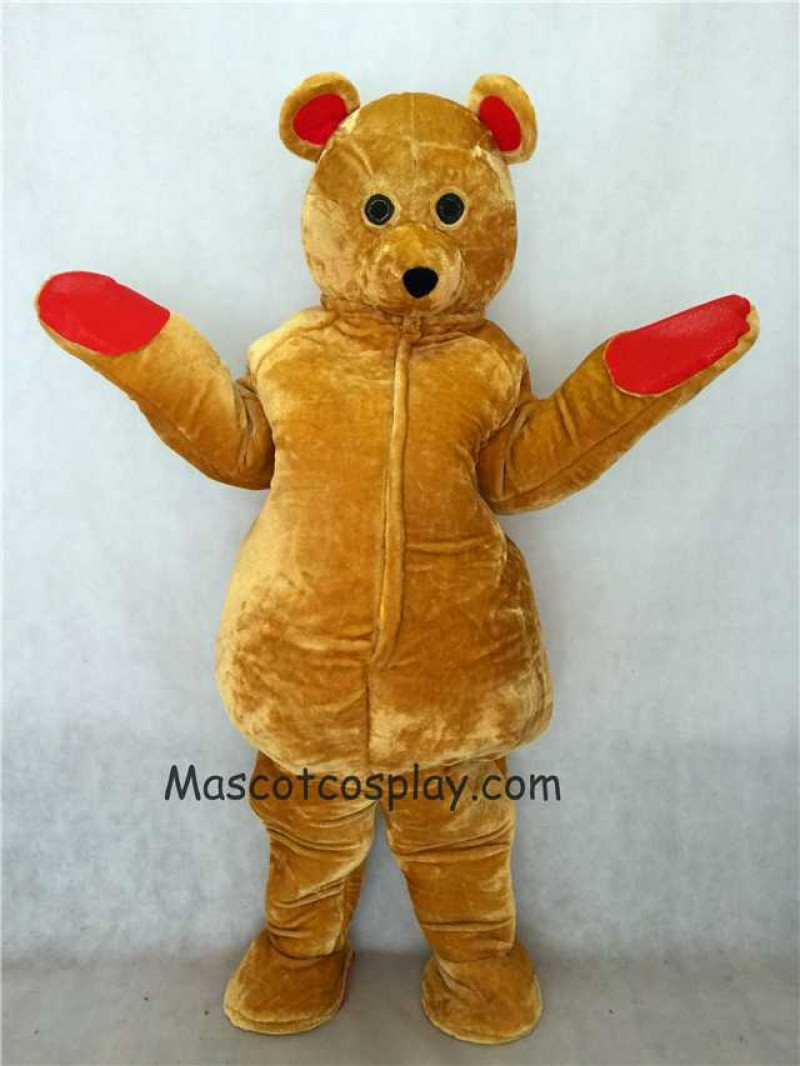 Hot Sale Adorable Realistic New Brown Teddy Ted Bear Mascot Costume