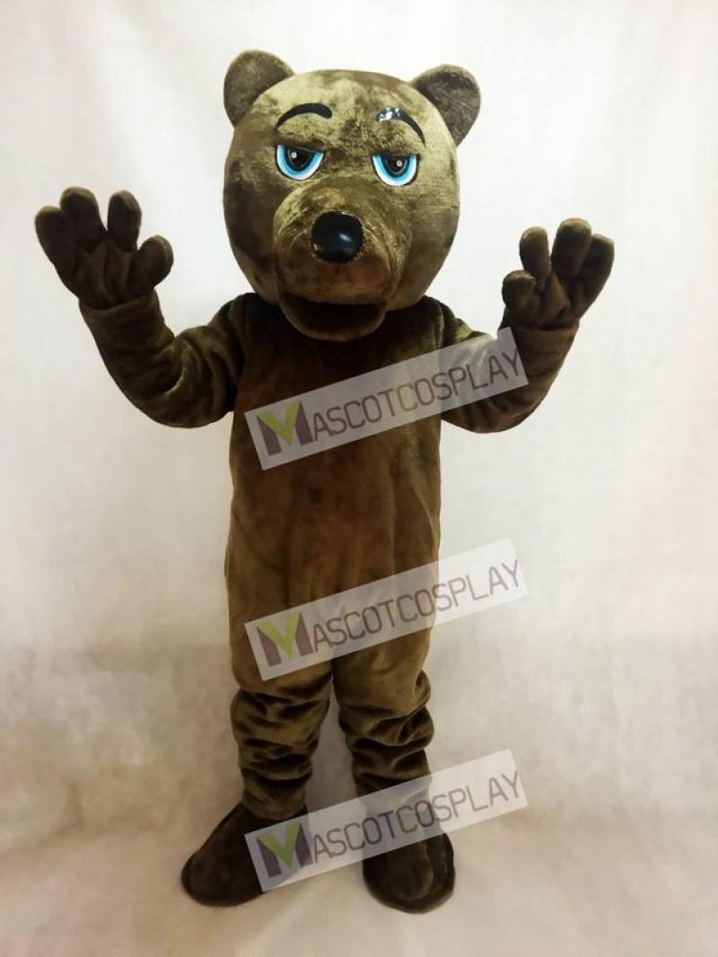 Dark Brown Bear Mascot Costume