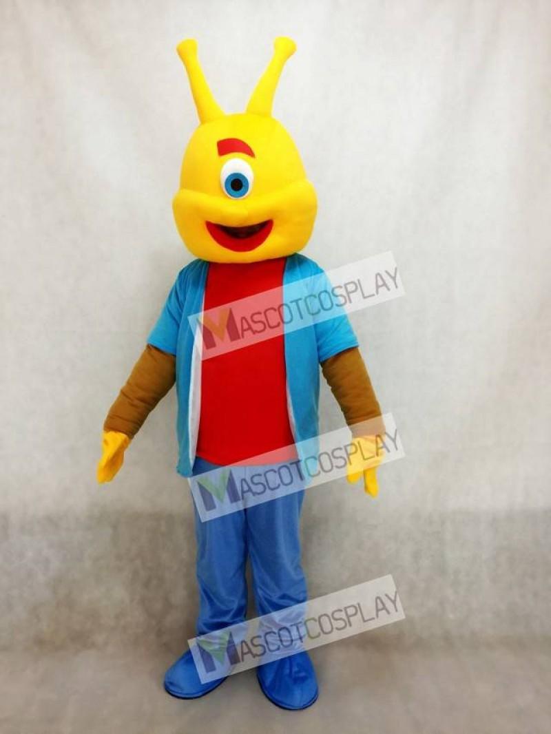 Cute Alien Short Plush Funny Adult Mascot Costume