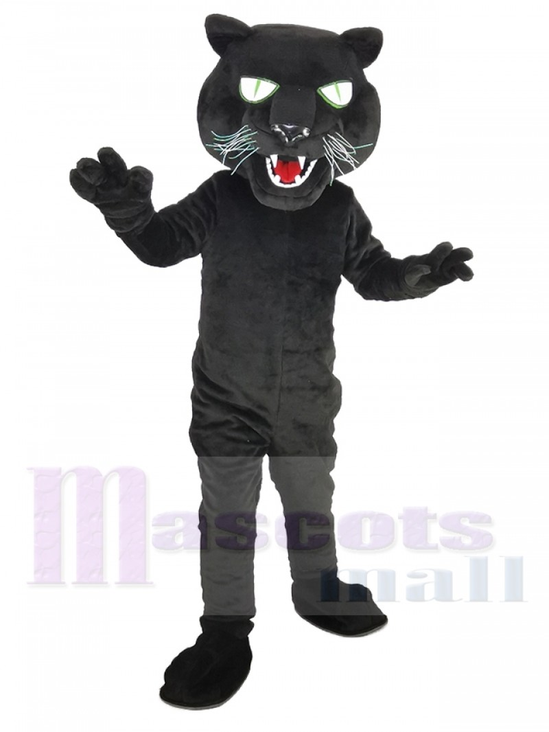 Black Panther with Long Beard Mascot Costume Animal